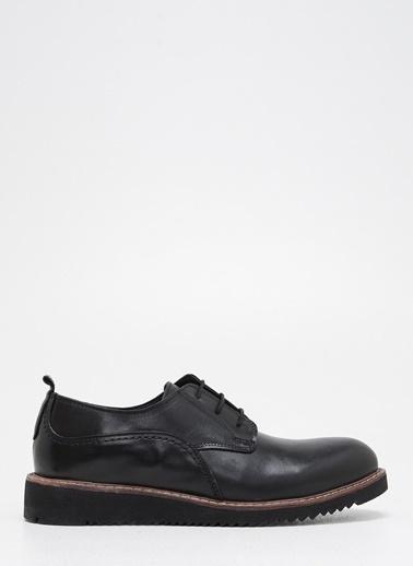 F By Fabrika Erkek Kahve Klasik Ayakkabı ROM Siyah